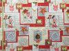 O poliéster imprimiu da tela do Natal do projeto de Retangle o pano 2017 de tabela quadrado
