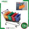 再使用可能な絶縁された食料雑貨のトロリー袋セット