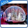 Globo della neve/sfera umani gonfiabili giganti di esposizione per la decorazione di Chritmas
