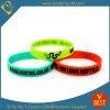 Incandescenza personalizzata di marchio nel Wristband scuro del silicone in alta qualità