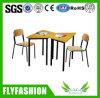 나무로 되는 현대 단 하나 학교 테이블 및 의자 (SF-102S)
