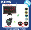 CE aprobado 433.92 Wireless Call Bell System para restaurante