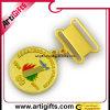 Medaglie del distintivo di Pin con l'oro di placcatura