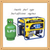 4000W Low Noise Small Home Use LPG y Gasoline Generator para Sale