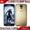 ROM Waterproof Hottest Cell Phones 2014 di S 5 Inch Octa Core Mtk6592 1.7GHz 1g RAM 8g