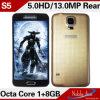 Téléphones cellulaires 2014 de ROM Waterproof Hottest de S 5 Inch Octa Core Mtk6592 1.7GHz 1g RAM 8g