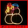 Luz dobro do motivo do diodo emissor de luz da corda do boneco de neve do Natal