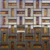 Mosaico mediterráneo del acero inoxidable de las etiquetas engomadas de la pared de los materiales de la decoración del contexto del rompecabezas