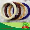 Coperchio del volante della pelliccia dell'agnello con i vari colori