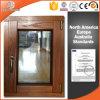 Ventana revestida de aluminio del marco de madera de roble del cliente de los UAE Dubai, color de madera múltiple para la ventana de aluminio del marco