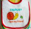 Bavoir blanc de bébé de Terry de coton imprimé par conception personnalisé par fournisseur de la Chine