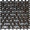 Edelstahl-Metallmosaik-Fliese-Penny-rundes geformtes für Backsplash Wand-Küche-Dekoration