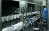 Cadena de producción ULTRAVIOLETA automática de la capa de las piezas plásticas