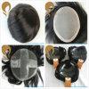 도매 또는 소매 실크 똑바른 Remy 사람의 모발 남자의 Hairpieces