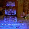 ハングの水晶ビードが付いている新しいアクリルのカップケーキタワーの立場