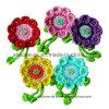 Цветок вязания крючком руки сбор винограда села, Applique вязания крючком руки, мотив вязания крючком