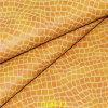 En relieve de grano del cocodrilo de la PU de la piel artificial para muebles modernos Sofá