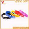 Heißer verkaufengedruckter Firmenzeichen-Normallack-SilikonWristband (XY-SW-002)