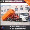 6X4 16m3 18m3 유압 기중기 쓰레기 트럭 훅 상승 쓰레기 트럭