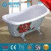 Hot Saling Silver Color Clawfoot Simple Art Bathtub (BT-Y6305D)