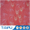 Materias textiles impermeables contorneadas rojas de la tela del telar jacquar del modelo de China