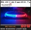 ambulância vermelha mini Lightbar do diodo emissor de luz do azul da montagem do ímã 12V