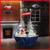 Décoration de chute de neige de cadeaux de vacances avec des lumières et la musique de LED pour la maison