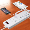 Nós Outlets com USB/FCC Electric Power Strip Socket/USB Platooninsert para Cell Phone e Tablets Power Charging Plug Socket (YA30WS-6AU8U)