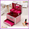 Rosafarbenes Cute Outlook Beauty Makeup Box mit Mirror (SACMC052)
