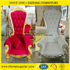 Re Queen Chair per la decorazione di cerimonia nuziale usata per affitto