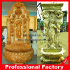 Marble beige Wall Fountain con Carved Women