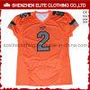 Fútbol americano Jersey China del oro del marrón de la impresión de la sublimación