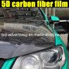1.52*20m 3D и 4D Texture 3 Layers Black High Glossy 5D Carbon Fiber Vinyl