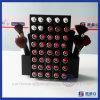 Support acrylique noir tournant de rouge à lievres de type avec 80 supports de rouge à lievres de PCS/stand acrylique de rouge à lievres avec le support de balai