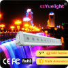 Arandela linear al aire libre de la pared de la luz LED de la cortina de la escalera de la arandela de la pared de Yuelight 12/24PCS 3W RGB