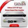 Amplificateur de fibre enduit par erbium de l'entrée EDFA de la haute performance 1550nm CATV rf