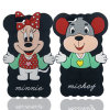 iPhone 6 (XSD-009)のための最新の漫画のMickey Minnieのシリコーンの電話箱