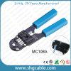 Щипцыа штепсельной вилки профессии модульные для разъема кабеля LAN Cat5e 8p8c RJ45