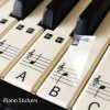 Kundenspezifischer transparenter Aufkleber, Klavier-Tastatur Keymap Notemap entfernbare Vinylaufkleber