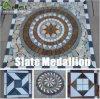 Patrón de la piedra del medallón del mosaico de la pizarra
