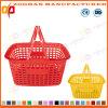 Panier à provisions coloré de supermarché des prix bon marché avec les traitements de double (Zhb161)