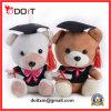 Urso da graduação com tampão e certificado