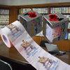 Tissu de salle de bains personnalisé estampé drôle de rouleau de papier hygiénique