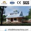 Maisons préfabriquées en acier de couleur insonorisée avec le grenier
