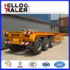 Hochleistungs20ft 40FT 3 Axle Container Flatbed Semi Trailer Chiassis