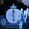 Decoração do Natal da luz do carro do cavalo da alameda de compra