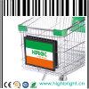 Einkaufen-Laufkatze-Lebensmittelgeschäft-Karren, die Vorstand-Rahmen bekanntmachen
