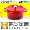 外のピクニック鋳鉄の熱湯の鍋