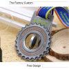 Medallas rotatorias huecos del metal modificadas para requisitos particulares