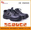 Sapatas de segurança de couro de venda quentes com dedo do pé de aço RS385